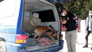 Okul önlerinde özel harekat destekli narkotik köpekli uygulama