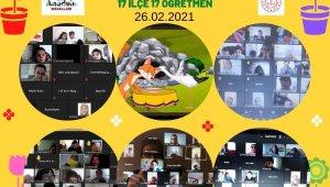 Samsun'da 4 bin 153 çocuğa online olarak masal anlatıldı