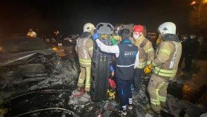 Sarıyer'de feci kaza: 2 yaralı