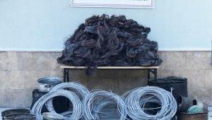 Tokat'ta bakır kablo satmaya çalışan 4 kişiye gözaltı