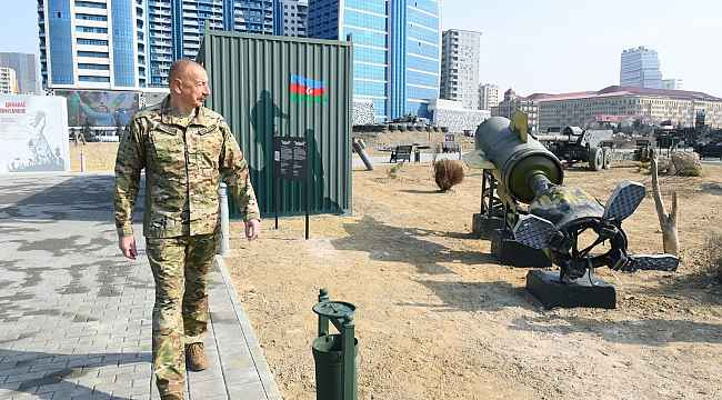 Aliyev, Askeri Ganimet Parkı'nın açılışını yaptı