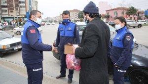 Atakum'da dilencilerle mücadele