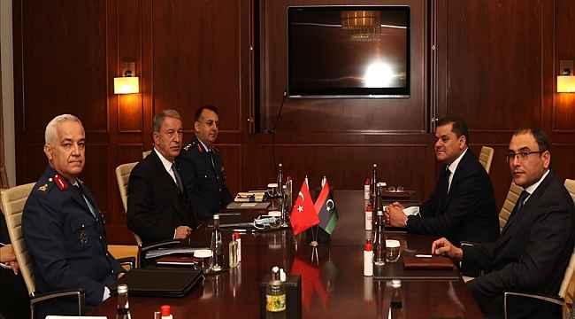 Bakan Akar, Libya Ulusal Birlik Hükümeti Başkanı Dibeybe ile görüştü