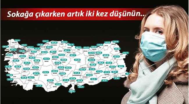 Bakan Koca il il haftalık koronavirüs vaka sayısı haritasını duyurdu