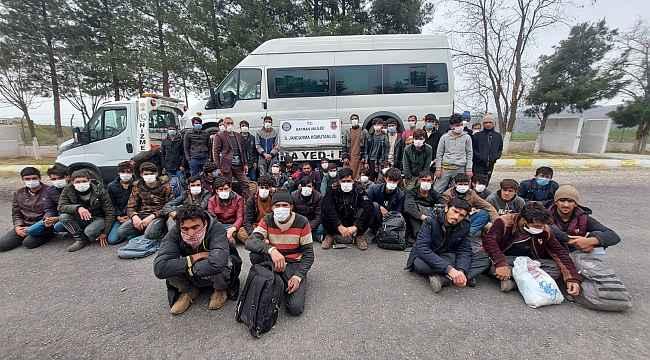 Batman'da 102 düzensiz göçmen yakalandı