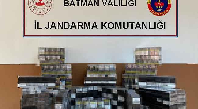 Batman'da 5 bin 500 bin paket kaçak sigara ele geçirildi