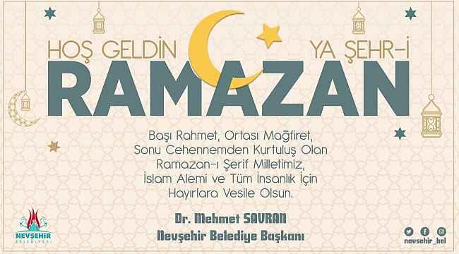 Belediye Başkanı Savran, Ramazan ayını kutladı