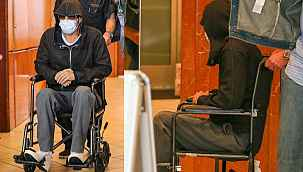 Brad Pitt'i tekerlekli sandalyeyle çıkardılar