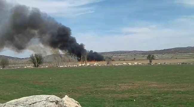 Çorum'daki 'kuş cenneti'nde korkutan yangın