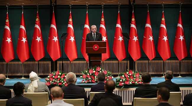 """Cumhurbaşkanı Erdoğan: """"Tedbirleri biraz daha sıkılaştırarak kısmi kapanma uygulanmasına geçiyoruz"""""""