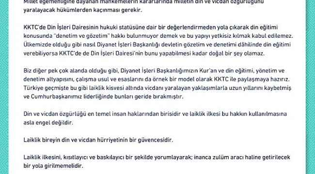 Cumhurbaşkanı Yardımcısı Oktay'dan KKTC Anayasa Mahkemesi'nin iptal kararına ilişkin açıklama