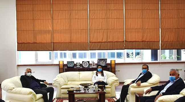 Denetimli Serbestlik Müdürü Beydoğan, Aydın Ticaret Borsası Başkanı Çondur ile görüştü