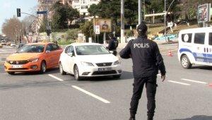 """Dolmabahçe'de """"kısıtlama"""" denetimi"""