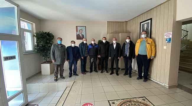 Gazeteciler Emniyet Müdürünü ziyaret etti
