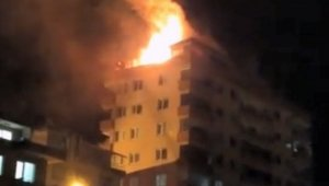 Giresun'da gece yarısı korkutan yangın