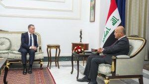 Görevi sona eren Bağdat Büyükelçisi Yıldız, Irak Cumhurbaşkanı Salih ile görüştü