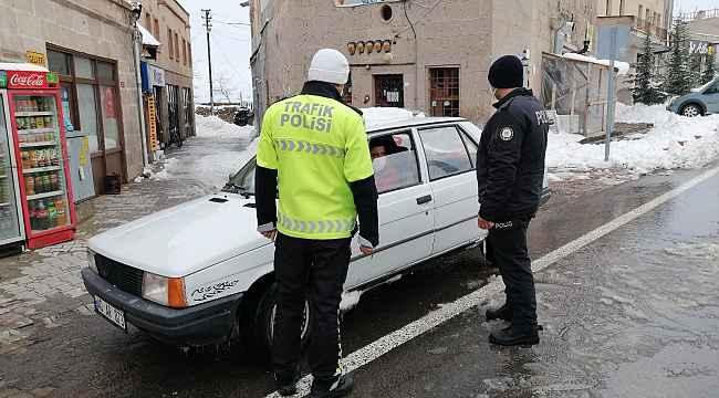 Güzelyurt ilçesinde polis ihlale izin vermiyor