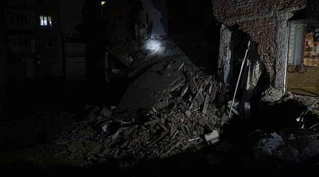 İnşaat alanındaki bina çöktü, şans eseri faciadan dönüldü