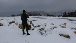 Karabük'te Nisan'da göller dondu