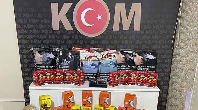 Kırıkkale'de kaçak tütün operasyonu: 3 gözaltı