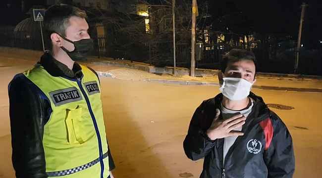 """Kısıtlamada alkollü yakalandı, """"kanundan ve polisten kaçış yok"""" dedi - Bursa Haberleri"""