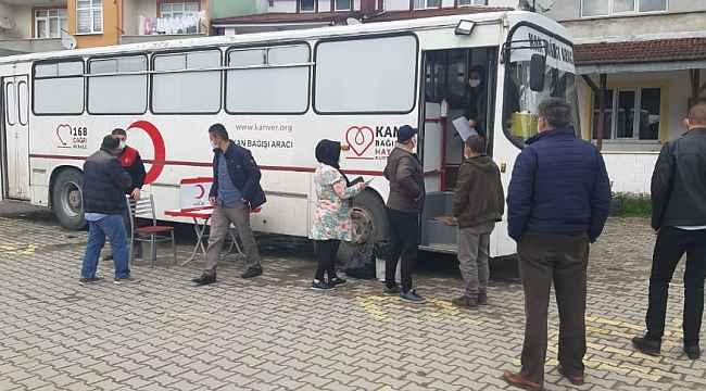 Kısıtlamada kan bağışında bulundular