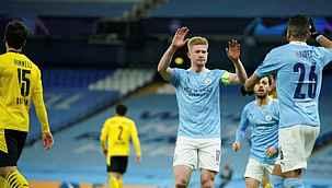 Manchester City, sahasında Borussia Dortmund'u 2-1 mağlup etti