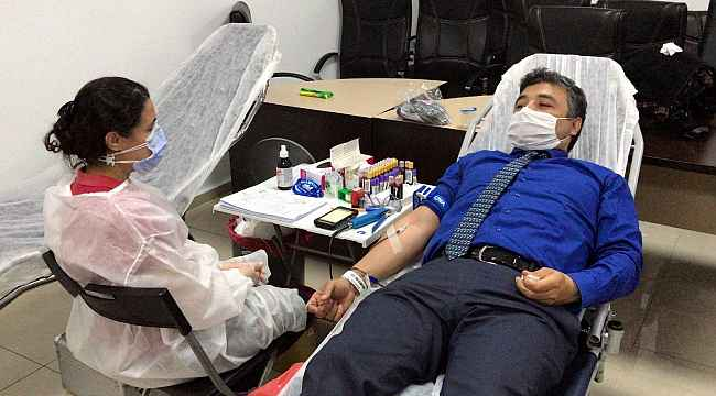 Nazilli Adliyesi Çalışanlarından Kızılay'a Kan Desteği