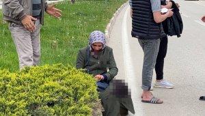 Otomobilin çarptığı kadının yaralandığı kaza kamerada - Bursa Haberleri