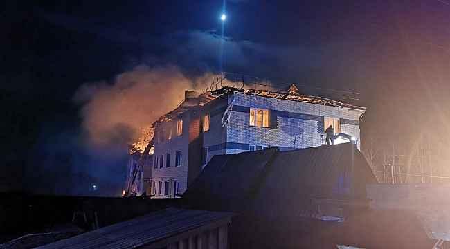 Rusya'da doğal gaz patlaması: 4 dairenin duvarları yıkıldı