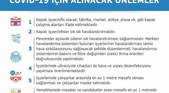 """Sağlık Bakanlığı'ndan, """"İşyeriofislerde Covid-19 için alınacak önlemler"""" açıklaması"""