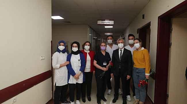 Tahmazoğlu, sağlık çalışanlarını unutmadı