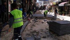 Tarihi Nusaybin Kapalı Çarşısında sağlıklaştırma çalışmaları başladı