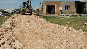 Viranşehir'de stabilize yol çalışması