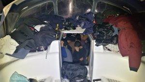 Yelkenli teknede 114 göçmen yakalandı