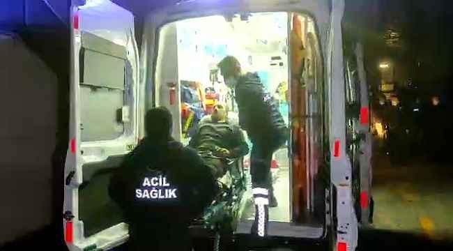 Yıkılan tomrukların arasında kalan işçi kurtarıldı