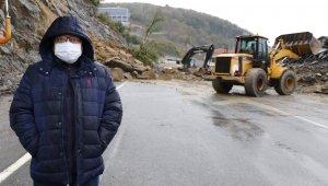 Zonguldak'ta korkutan heyelan