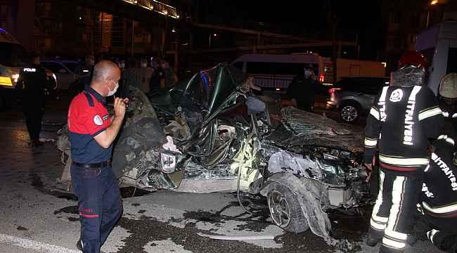 Ağır yaralanan sürücünün kimliği tespit edildi