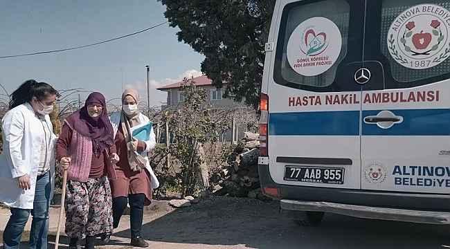 """Altınova'da """"Evde Sağlık ve Bakım""""da büyük başarı. 5 yılda 5 bine yakın işlem gerçekleştirildi"""