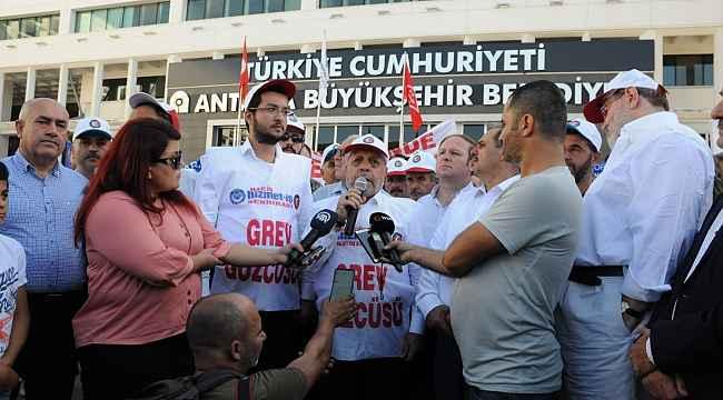 Antalya Büyükşehir Belediyesindeki grev 666'ıncı gününde
