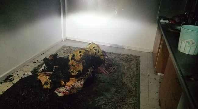 Apartmanda çıkan yangın paniğe sebep oldu