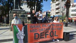 Ayvalık'ta Demokrasi Platformundan İsrail'e sert tepki