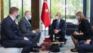 Bakan Çavuşoğlu, İslam Toplumu Başkanı Müftü Grabus'u kabul etti