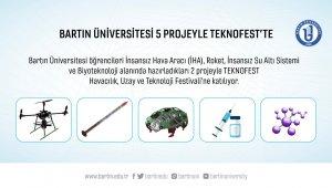 Bartın Üniversitesi öğrencileri 5 projeyle TEKNOFEST'te yarışacak
