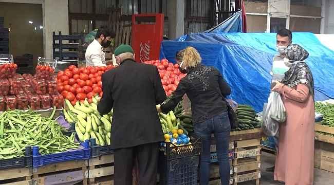 Bartın'da pazar yerleri geniş tedbirler altında 2'nci kez açıldı