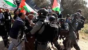 Batı Şeria'daki Gazze'ye destek gösterilerinde en az 78 Filistinli yaralandı
