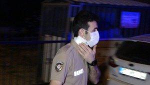 Bekçiye saldırıp boynundan yaralayan alkollü şahıs ayağından vurularak yakalandı