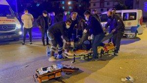 Bolu'da, otomobille çarpışan motosikletli kurye hayatını kaybetti