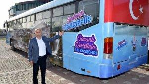 Bu otobüs vatandaşlara ücretsiz hizmet verecek