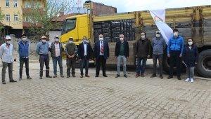 Çiftçilere yüzde 50 hibeli 54 bin çilek fidesi dağıtıldı